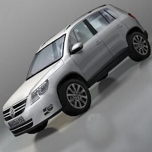 volkswagen tiguan 3d model
