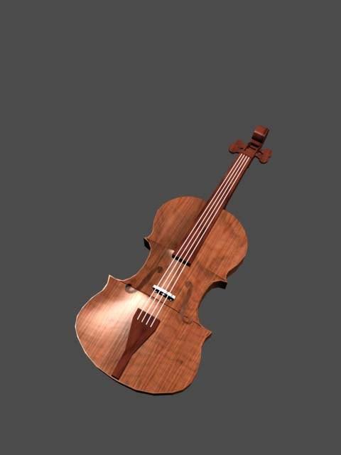 classical violin 3d model