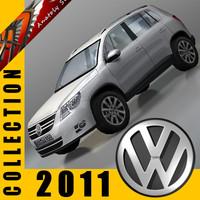 2011 volkswagen cars 3d model
