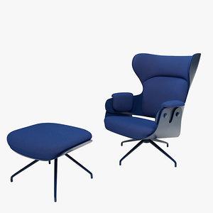 bd lounger chair 3d model