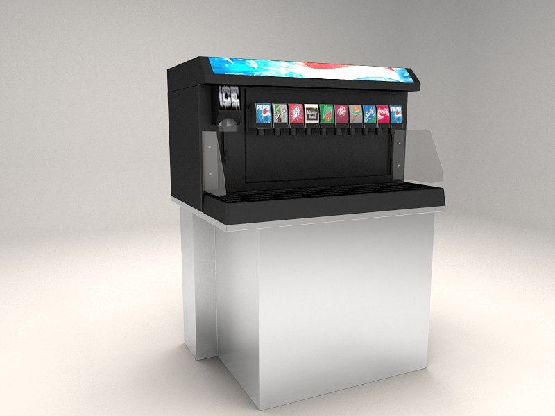 beverage dispenser 3d model
