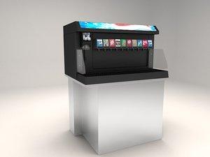 beverage dispenser 3d model