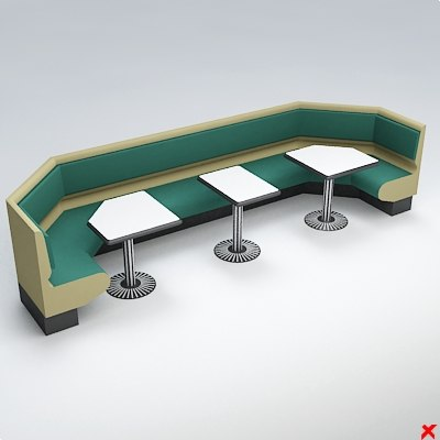 bench chair furniture 3d model