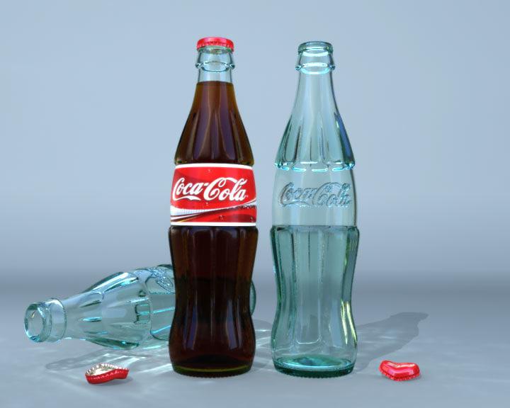 cola bottle 3d model