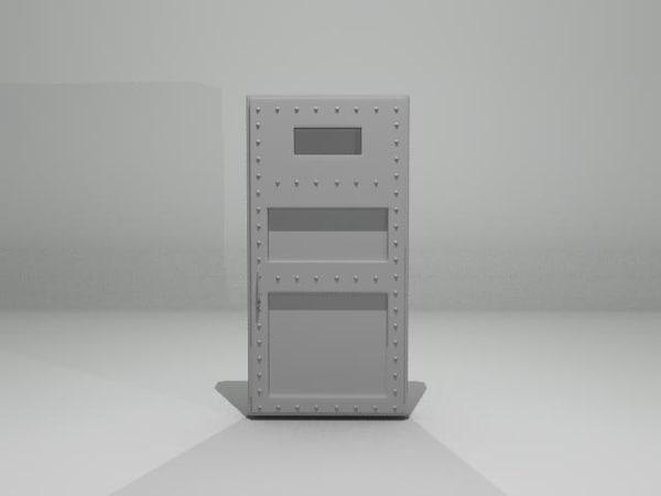 free cell door 3d model