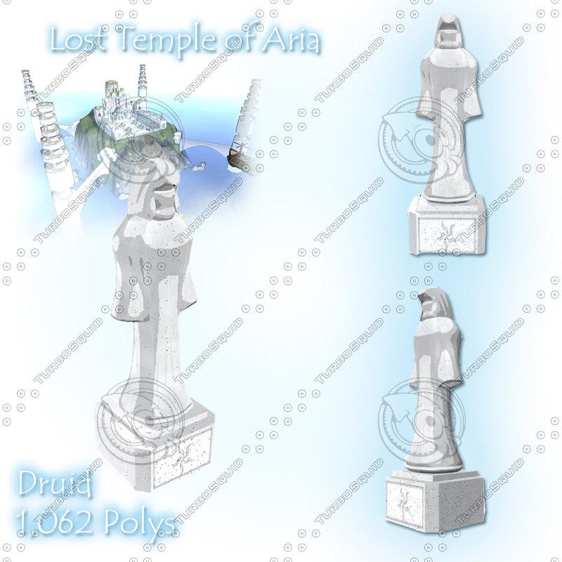 druid statue 3d model
