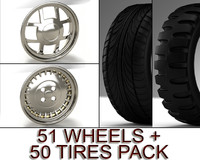 101 models PACK (51 wheels + 50 tires)