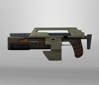 marine gun 3d model