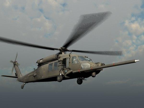 mh-60k nighthawk transport 3d model