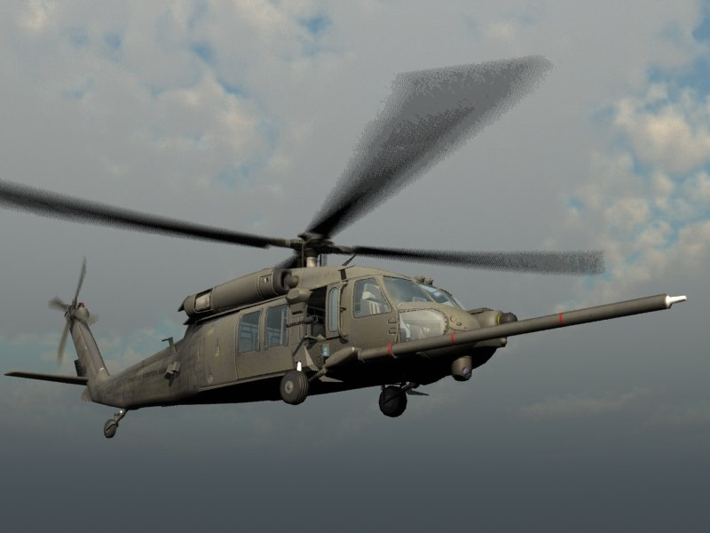 mh-60k nighthawk transport 3d model