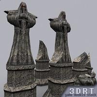 statue dungeon 3d model