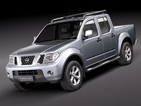 nissan navara 2010 pickup 3d model