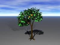 orange tree 3d model