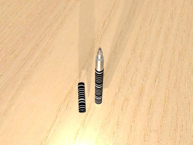 striped pen kth 3d model