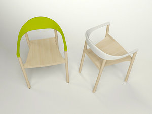 plank monza armchair 3d model