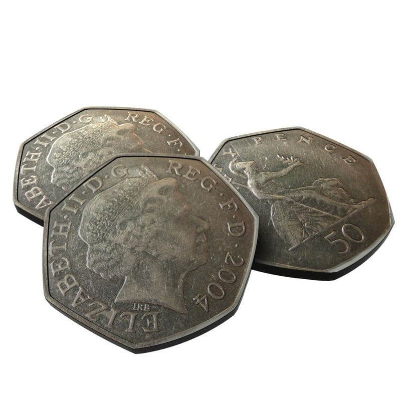 british 50pence 3d model