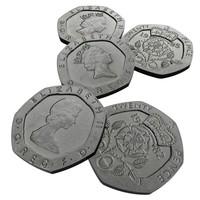 british pence 1982 1995 3d model