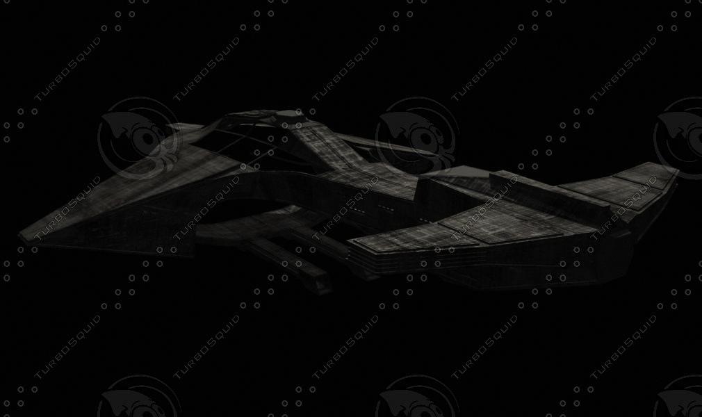 alien ship 3d model