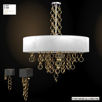 sigma elle due 7128 ceiling lamp chandelier sconce wall art deco modern contemporary