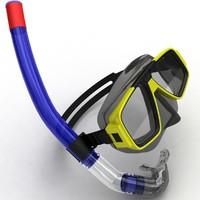 snorkel 3d model