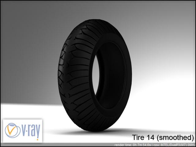 tire wheels 14 3d model