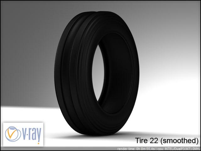 tire wheels 22 2 3d model