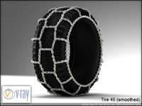 tire wheels 45 3d model