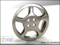 wheel 22 3d model