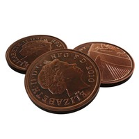 british 1 penny 2010 3d model