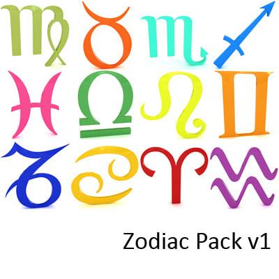 zodiac aries taurus 3d model