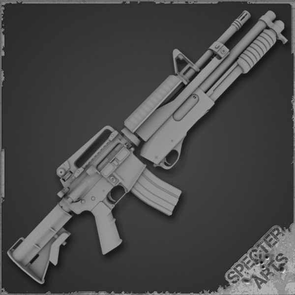m4a1 masterkey weapons rifle 3d model