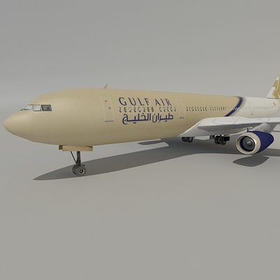 airbus gulf air 3d model