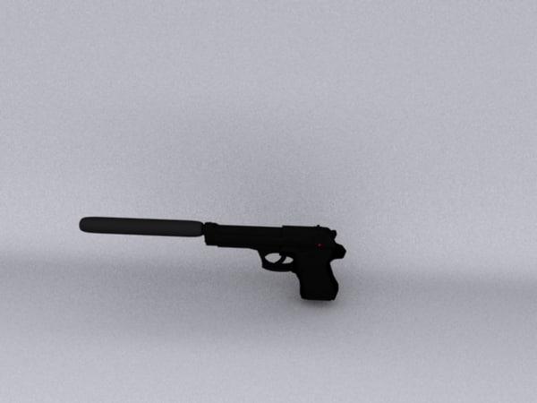 free berreta scilencer 3d model