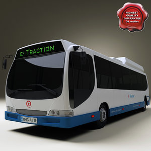 realistic bus e-traction v2 3d model