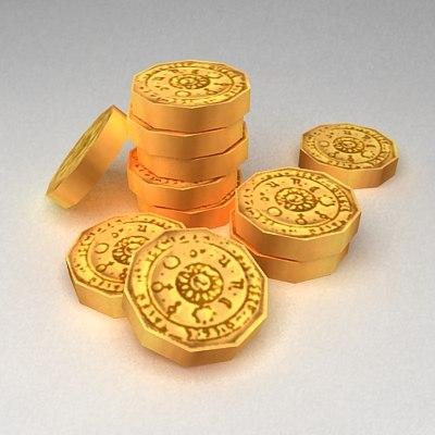 stack coins 3d model