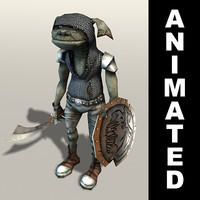 Kobold warrior animated