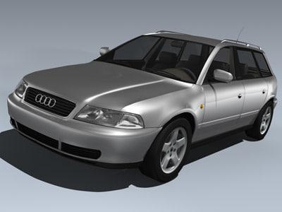 2001 audi a4 avant 3d model