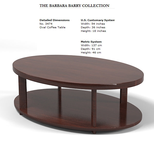 Baker 3474 Oval 3d Model
