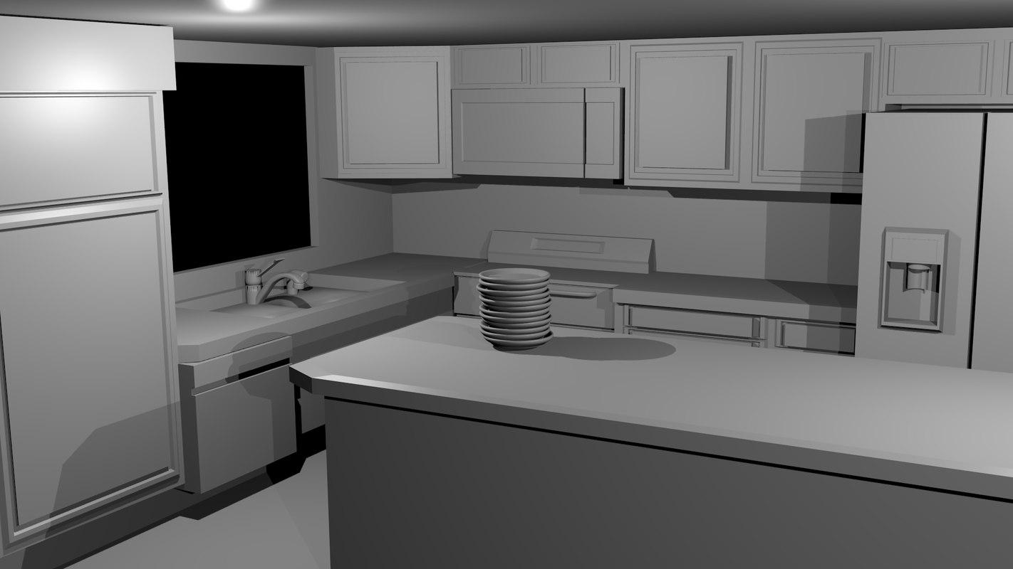 kitchen modeled 3d model