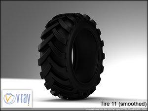 tire wheels 11 3d model