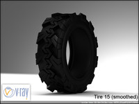 tire wheels 15 3d model