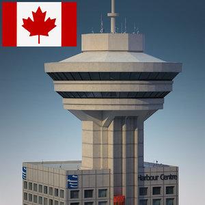 vancouver lookout - building 3d model