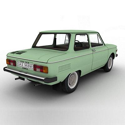 968m Zaporozhets Car 3d Model