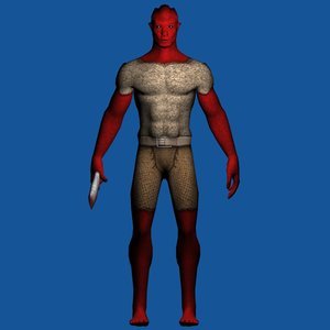 character hero enemy 3d model