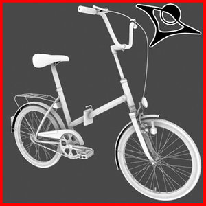 typical bike 3d model