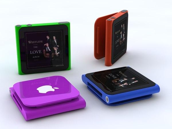 apple ipod nano multi 3d model