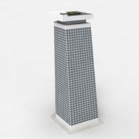 futuristic building 3d model