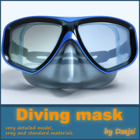 diving mask 3d model