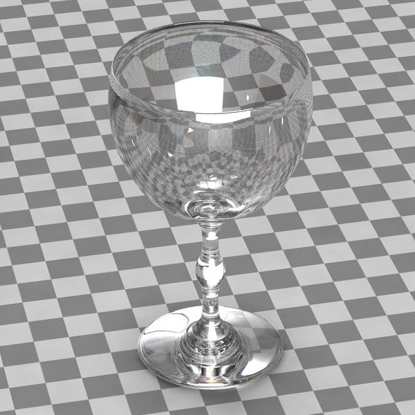 glass wine wineglass 3d model