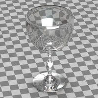 glass wine wineglass 3d model